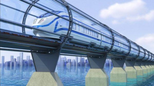 проект вакуумного поезда Hyperloop